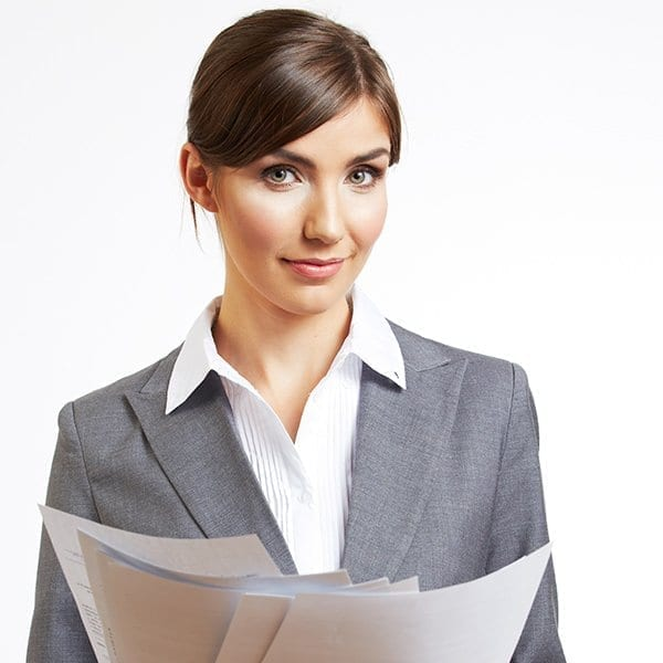 businessperson holding paperwork