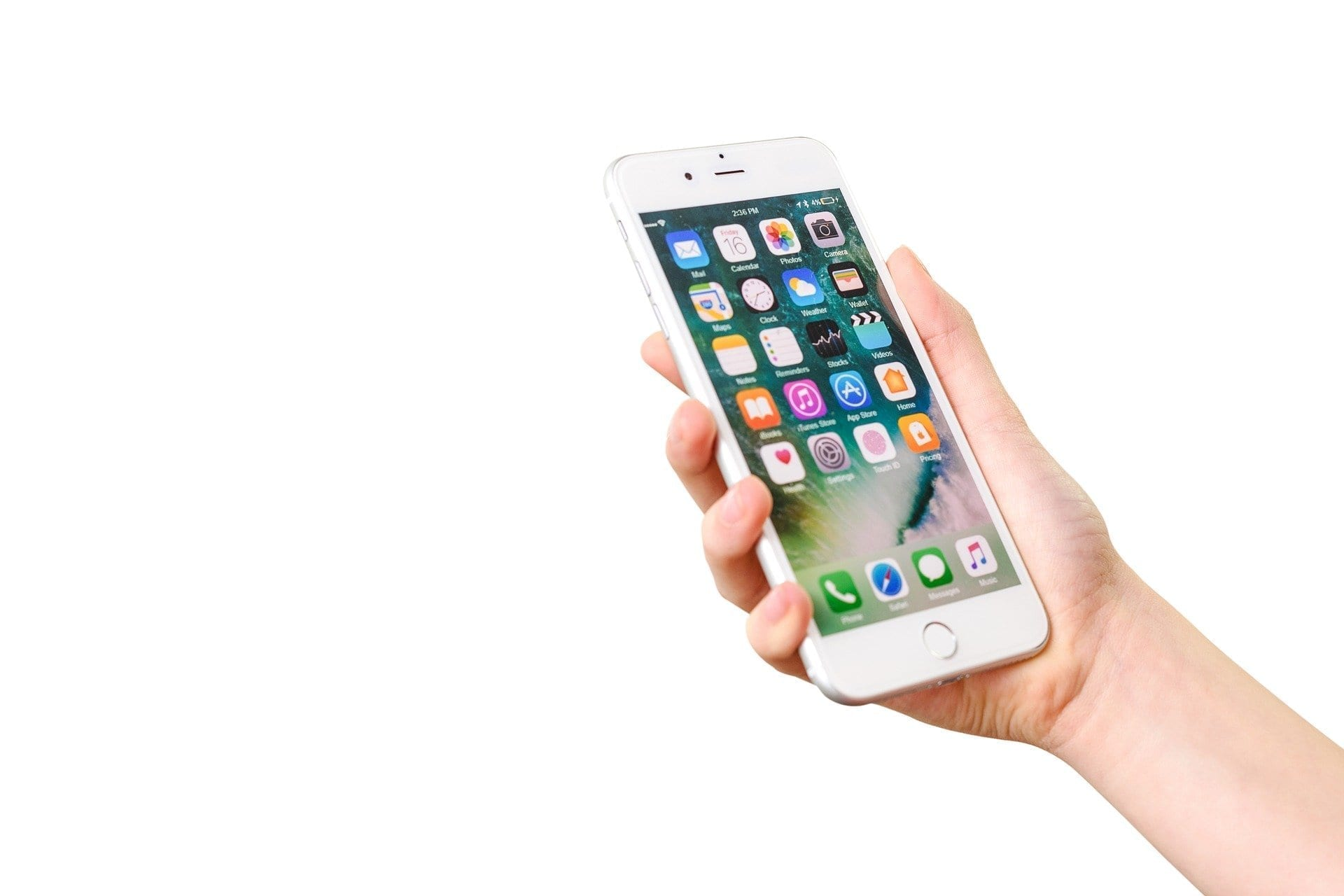 picture of a hand holding a iphone device