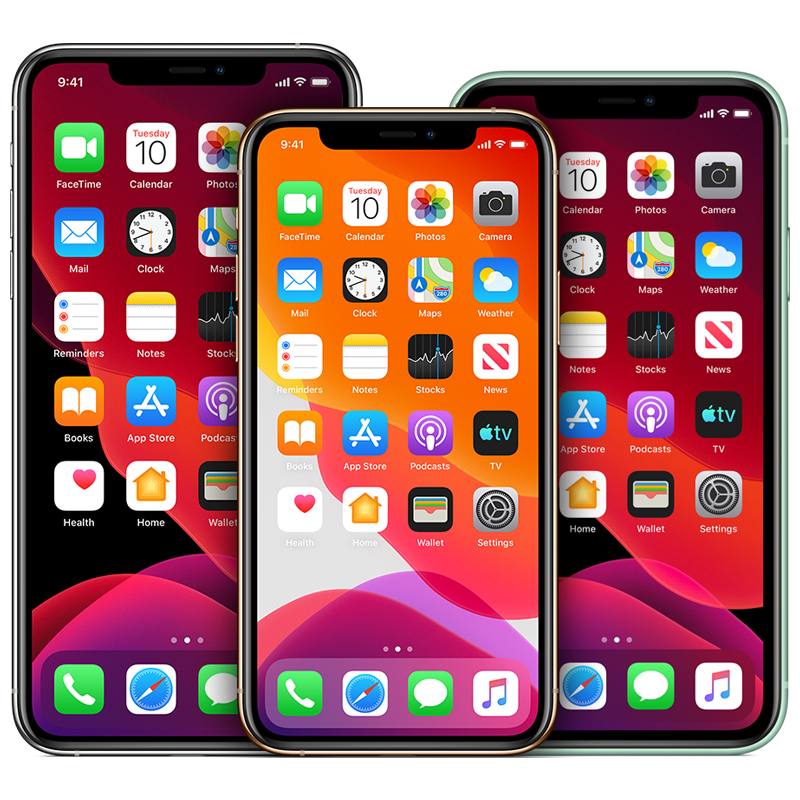 a picture of various iphone devices
