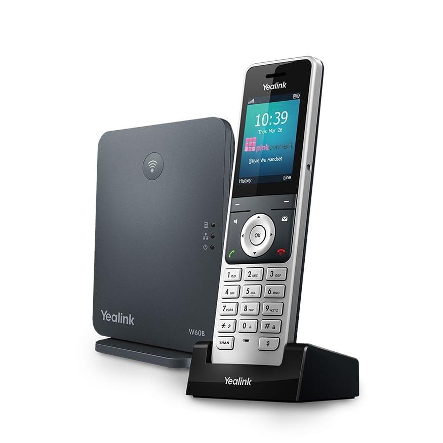 Pink IP Pro Yealink W60B Handset