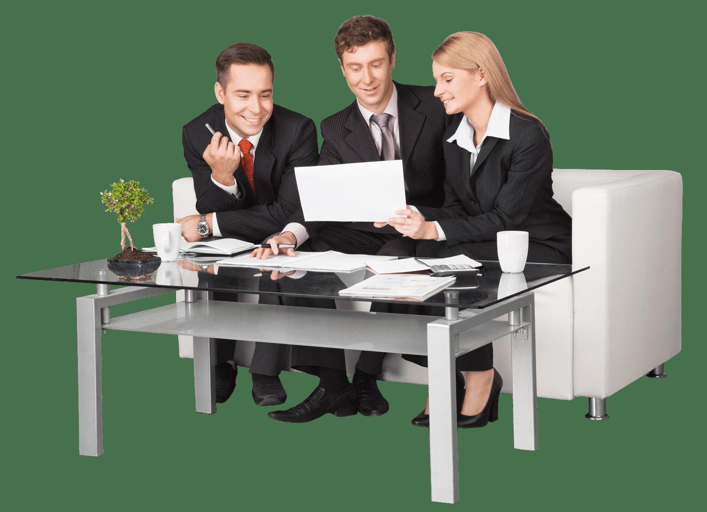 Team Meeting over laptop