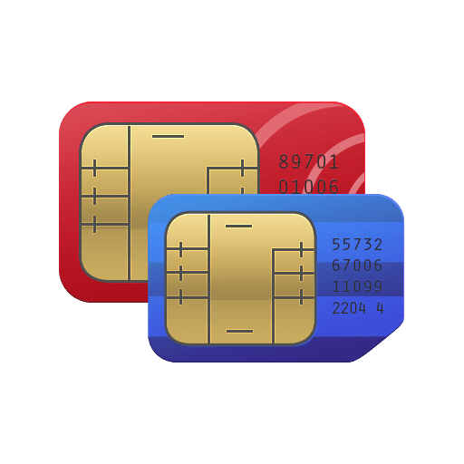 Graphic of sim cards ofr mobile phones